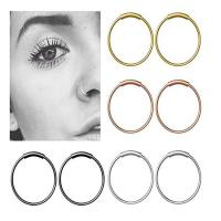 Best Steel Hinged Clicker Seamless Piercing Nose Ring Hoop Lip Ear Ring-6/8/10mm Body Jewelry Piercing Clip Gift wholesale