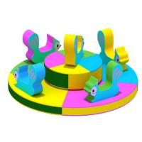 China Hansel  soft outdoor playground equipment for kid indoor games animal carousel for baby on sale