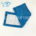 Best Blue Color Microfiber Coral Fleece Pocket Shaped Wet Pads Multifunctional Mops wholesale