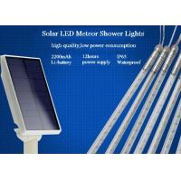 Best 10 Tubes Solar Powered Meteor Shower Lights String 50cm With EU / US Plug wholesale