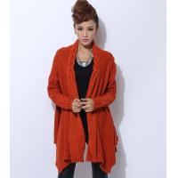 Best Womens Chunky Cable Knit Sweaters Orange Knit Poncho Acylic / Polyester wholesale