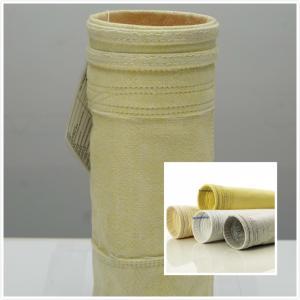Best 800GSM High Temperature Filter Bags / Pocket  FMS Fibreglass Filter Bag wholesale