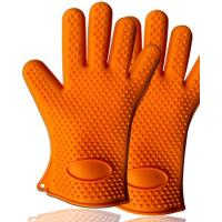 Cheap Hot Sale Eco-friendly Heat Resistant Triangle-shaped Point Silicone Baking Gloves for sale