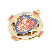 China Customized Size Metal Pin Badges Embossed Colorful Honor For Sports Event on sale