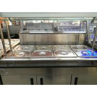 China Marble Stainless Steel Catering Equipment Hot Food Unit Standing Bain Marie 1600*900*800+560mm on sale