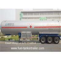 Best 17 tons - 30 tons 3 axles LPG Semi Trailer , Gas Propane Tank Trailer 60000 liters wholesale