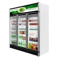 China Aluminum Alloy Frame Glass Door Freezer Merchandiser With R404a Gas on sale
