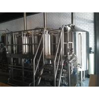 Buy cheap Three Vessel Brewery Brewing Equipment , Steam Heated Brewery Equipment product
