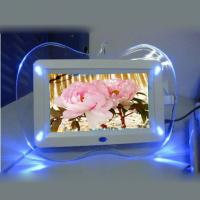 China 4 Blue LED Lights LCD Digital Photo Frame 7 Inch HD IPS Screen With Apple Shape on sale