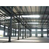 China Prefabricated Structural Steel Frames Workshop Steel Building Contractors on sale