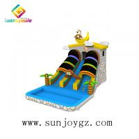 China customized color Inflatable Water Slide On Land For Kids Entertainment on sale