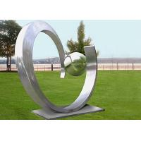 China Yard Decoration Modern Stainless Steel Sculpture Art Heart Shape Forging Technique on sale