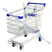 Best Australia Chrome Plating Supermarket Shopping Cart Four Caster , Logo is Available wholesale