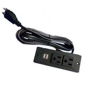 China USA power strip with 2 usb ports UL socket furniture socket on sale