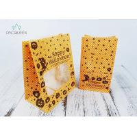 China Block Bottom Greaseproof Wrapping Paper Bags With Clear Window Oil Proof on sale