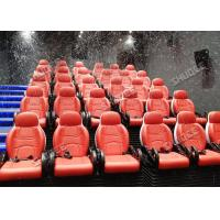 Best Incredible Bubble Machine 5D Theater System Deeply Immersion Luxury Red Motion Seats wholesale