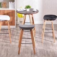 Best Multi Coloured Wooden Dining Chairs , Modern Plastic Bar Stools wholesale