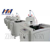 China Small Size Profile Plastic Sheet Cutting Machine Pneumatic Type Cutter With Saw on sale
