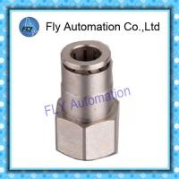 Best Pneumatic Tube Fittings Straight thread nickel-plated brass push-in fittings PCF series wholesale