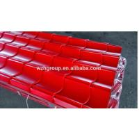 China YX 828 Prepainted corrugated steel roofing sheets/ glazed ridge tile on sale