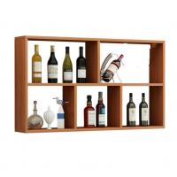 China Anti Crack Wooden Shop Display Showcase / Wall Mounted Wine Rack Stable on sale