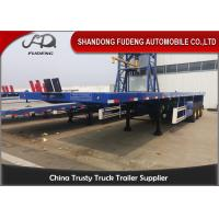 China 3 Axles 40 FeetFlatbed Container Trailer Transport 20/40 Feet Container Selling on sale