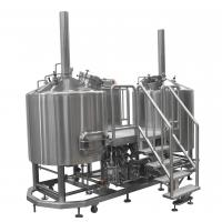 Buy cheap Two Vessels Gas Direct Fired Micro Brewing Equipment , Beer Brewing Machinery product