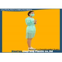 China Customized Disposable Protective Gowns , Plastic Isolation Gowns Eco Friendly on sale