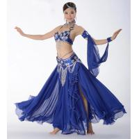 Best Belly dance bra and belt , belly dancing dresses satin and chiffon fabric  material wholesale