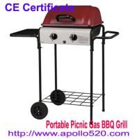 Buy cheap UK Type Portable Gas Grill BBQ in red from wholesalers