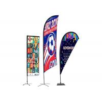 Best Personalised Outdoor Promotional Flags And Banners Advertising Usage BSCI Certification wholesale
