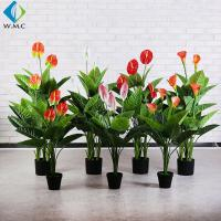 Best Customized Faux Potted Plants , 1m Height Potted Artificial Calla Lily wholesale