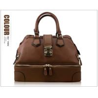 China Genuine leather zipper shoes tote handbags for women on sale
