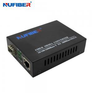 Best Sfp Fiber Media Converter TX RJ45 To FX SFP IEEE 802.3 Compliant wholesale
