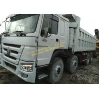 Best Used Dump Truck HOWO 375 dump truck White color 12 wheels Africa construction work wholesale