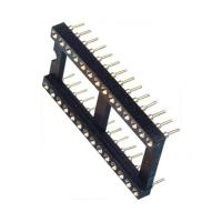 Cheap 2.54mm IC Socket 2*16P DIP Dual Row Round Pin Header H=3.0,L=7.43 ROHS for sale