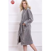 China Luxury Flannel Fleece Robe Long Sleeve Nightwear Heated Bathrobe Nightdress Nightgrown on sale