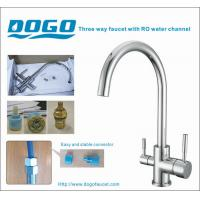 Buy cheap Chrome 3 way kitchen faucet for home RO water from wholesalers