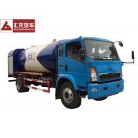 Best 4x2  LPG Tank Trailer Mobile Distribution  , Dispenser LPG Gas Tanker Truck 120 Horse Power wholesale