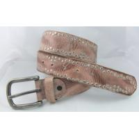 China fashion real leather rivets jean belt manufactory price in hihg quality on sale