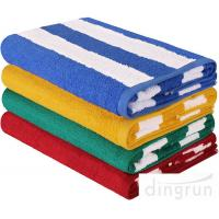 Best High Absorbency Terry Cotton Stripe Bath Towels Beach Towels For Swimming wholesale