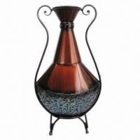 Best Metal Flower Vase, Painted Red, Blue and Black Finish, High Quality wholesale