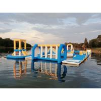 China Hungary Inflatable Water Sports Park / Kids Blow Up Water Park For Lake on sale