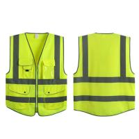 China Construction High Visibility Security Vest Customized Logo Accepted on sale