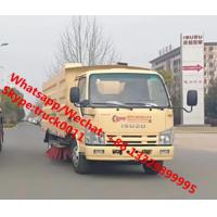 Best 2020s new ISUZU 4*2 600P diesel Euro Ⅴ 130hp road sweeper truck for sale, road cleaning truck with sweeping brushes wholesale