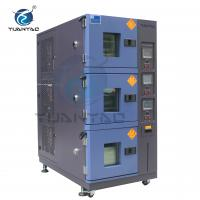Best Custom 3 Layer Temperature Humidity Environmental Test Chamber With LCD Touch Screen Controller wholesale
