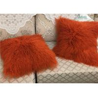 Best Mongolian Sheepskin Wool Cushion Genuine Long Curly Fur Pillow sheepskin curly fur cushion wholesale