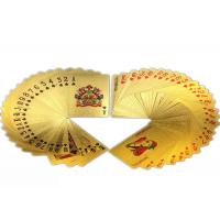 Best Multipurpose Colorful Gold Plated Playing Cards Gambling 57*87MM wholesale