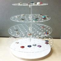 Best Desktop Acrylic Jewelry Organizer Jewelry Exhibition Acrylic Display Tray For Ring wholesale