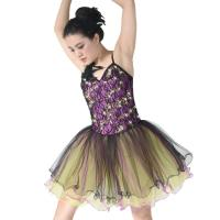Best Graceful Dance Competition Costumes Sequined Tutu Sweetheart Neckline Dress With Tire wholesale